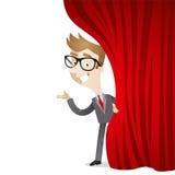 Zeichentrickfilm-Figur: Geschäftsmannvorhang vektor abbildung