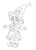 Zeichentrickfilm-Figur - Halloween - Illustration für t Lizenzfreies Stockbild