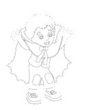 Zeichentrickfilm-Figur - Halloween - Illustration für t Stockfoto