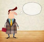 Zeichentrickfilm-Figur mit Spracheluftblase lizenzfreie abbildung