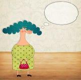 Zeichentrickfilm-Figur mit Spracheluftblase stock abbildung