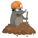 Zeichentrickfilm-Figur-Mole Stockbilder