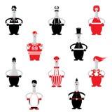 Zeichentrickfilm-Figur-Vektor und Ikone Stockfotos