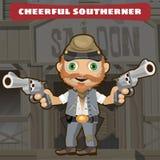 Zeichentrickfilm-Figur-wilder Westen - netter Bewohner des Südens vektor abbildung