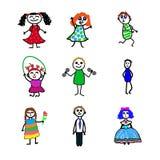 Zeichentrickfilm-Figuren vektor abbildung