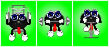 Zeichentrickfilm-Figuren 4 stock abbildung