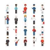 Zeichentrickfilm-Figuren von verschiedenen Berufen Stockfoto