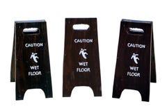 Zeichenwarnung des nassen Bodens der Vorsicht lizenzfreies stockbild