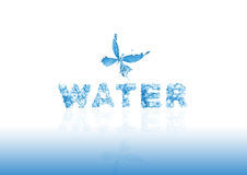 Zeichenwasser Stockfoto