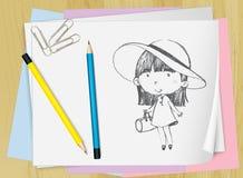 Zeichnen auf Papier Stockfoto