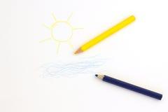 Zeichnen auf Papier Lizenzfreie Stockfotos