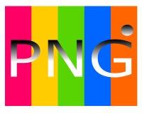 Zeichnen des png-Dateilogos lizenzfreie abbildung