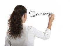 Zeichnen des Wort Erfolgs Stockfotos