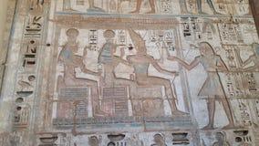 Zeichnen in einen Tempel nahe valey der Könige Luxor Lizenzfreies Stockbild