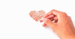 Zeichnen einer Herzform Lizenzfreie Stockfotos