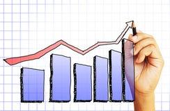 Zeichnen eines Diagramms stockfoto