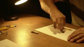 Zeichnen eines Kreises stock footage