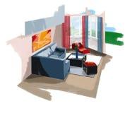 Zeichnen mit Fenster Lizenzfreie Stockbilder