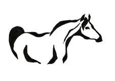 Zeichnen mit schwarzer Tinte auf weißem Hintergrund - stilisiertes Bild von a lizenzfreie stockfotografie