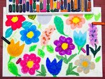 Zeichnen: schöne Blumen Lizenzfreie Stockbilder