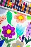 Zeichnen - schöne Blumen Lizenzfreies Stockbild