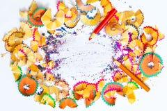 Zeichnen Schnitzel mit Kopienraum an Lizenzfreies Stockfoto