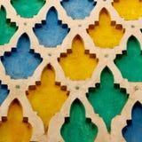 zeichnen Sie in alter Fliese Marokkos Afrika und in colorated Boden keramischem abst Stockfotografie