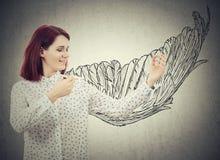 Zeichnen Sie Ihre Flügel lizenzfreies stockfoto