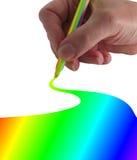 Zeichnen Sie mich ein Regenbogen Stockfotografie