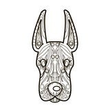 Zeichnen Sie Vektorbild für Kunsttherapie mit Hund Stockbilder