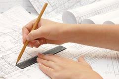 Zeichnen und verschiedene Hilfsmittel lizenzfreies stockbild