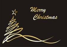 Zeichnen in Zeilen. Weihnachtsbaum Lizenzfreies Stockbild