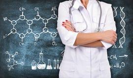 Zeichnende chemische Formel stockfoto