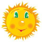 Zeichnende fröhliche Sonne Lizenzfreies Stockfoto