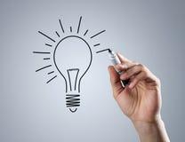 Zeichnende Glühlampe Lizenzfreie Stockfotos