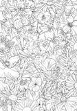 Zeichnender Hintergrund des Vektors mit Blumen lizenzfreies stockbild