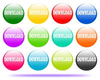 Zeichnendes Knopflogodownload lizenzfreie abbildung