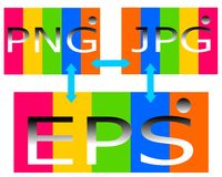 Zeichnendes Logo der Datei png-Jpg ENV vektor abbildung