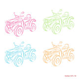 Zeichnung ATV Stockfotos