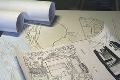 Zeichnung, Blätter Papier Lizenzfreie Stockfotografie