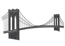 Zeichnung der Brooklyn-Brücke in New York lizenzfreie abbildung