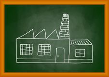 Zeichnung der Fabrik Lizenzfreies Stockfoto