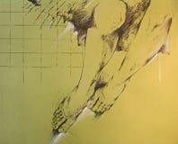 Zeichnung der Fahrwerkbeine der Frau Stockbilder