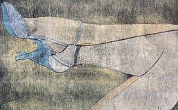 Zeichnung der Fahrwerkbeine der Frau Stockfoto