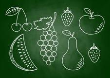 Zeichnung der Früchte stock abbildung