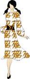Zeichnung der Frau Lizenzfreies Stockfoto