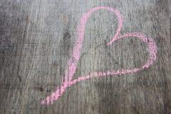 Zeichnung der Herzikone Stockbild