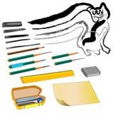 Zeichnung der Kunstmaterialien 02 Lizenzfreies Stockfoto