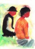 Zeichnung der Personen. Stockfotos