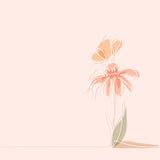 Zeichnung der schönen Blume mit Schmetterling vektor abbildung